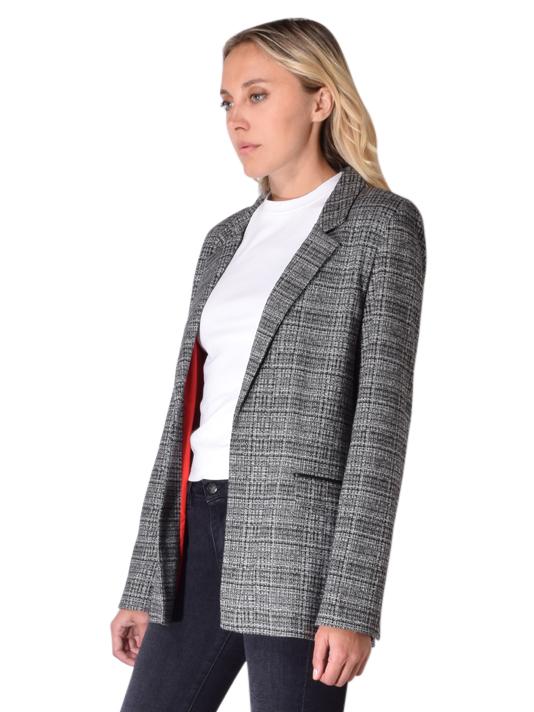 David Lerner Over sized Blazer In Black and White Plaid