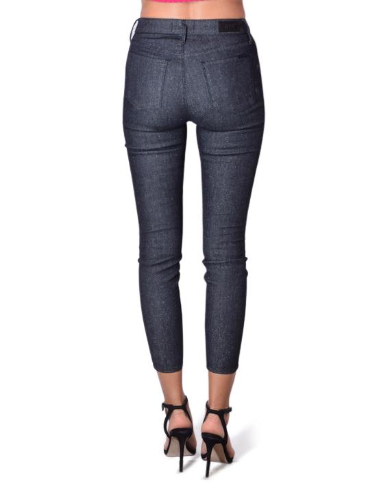 RTA Madrid High Waist Skinny Glitz Pants In Blue