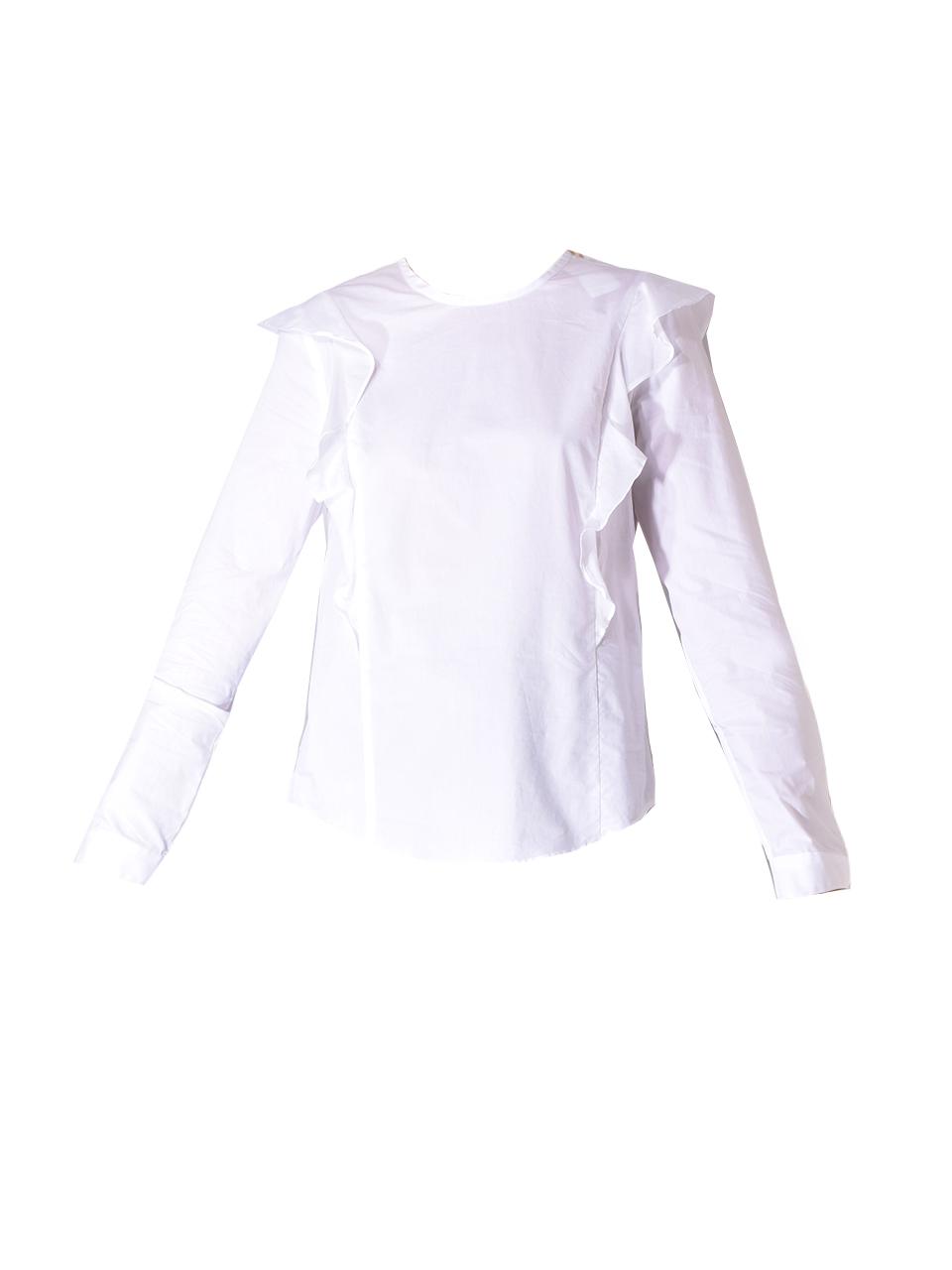 BLDWN Pia Ruffle Top In Optic White