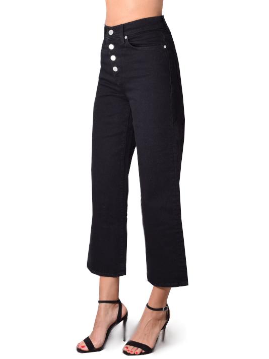 BLDWN Cropped Wide Leg Jean In Carbon Black