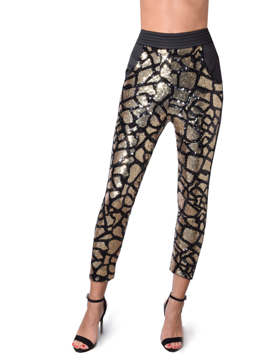 Zhivago Karinji Pant In Black and Gold