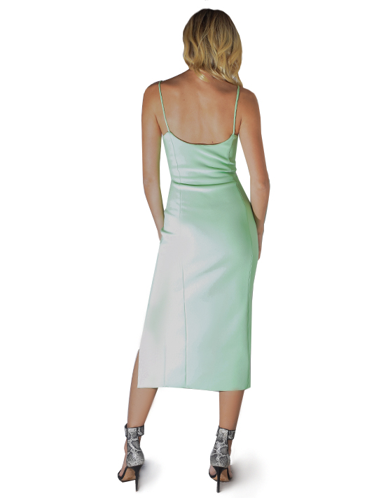 Bec & Bridge Missy Middi Dress In Neon Green