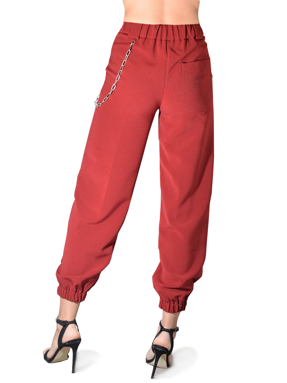 OTTAD'AME Chained Pants In Red