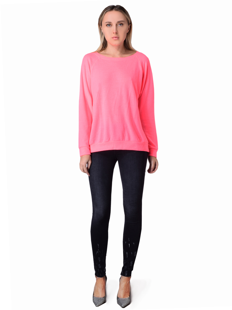 Prince Peter Hacci Pullover In Yellow In Neon Pink