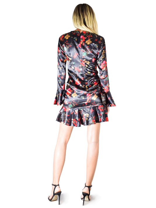 LIKELY Reilly Dress In Black and Floral