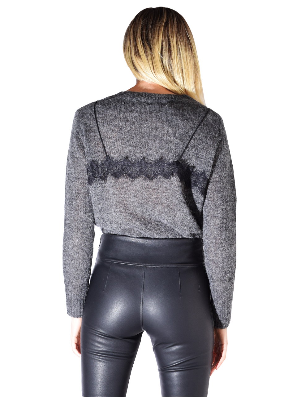 One Grey Day Tatum Pullover In Charcoal