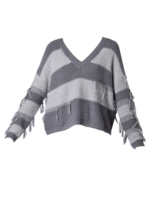 Lexie 2way Pullover Sweater In Flannel