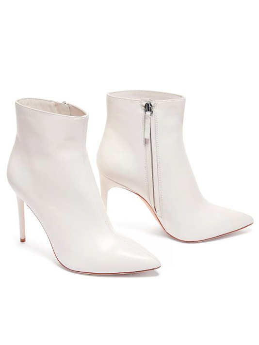 Alice + Olivia Celyn Leather Bootie in White