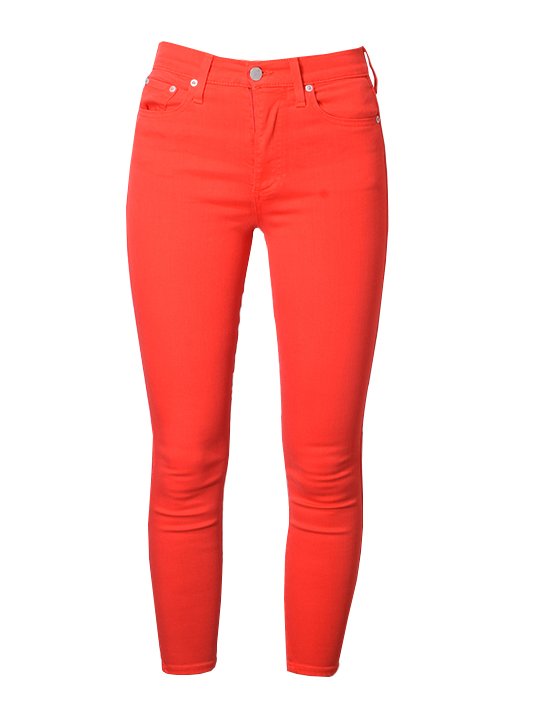 Alice and Olivia Good High Rise Ankle Skinny In Paprika