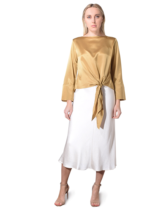 CINQ A SEPT Scarlet Top In Gold