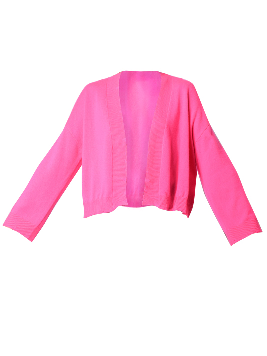 Porter Cashmere Open Cardigan in Pink