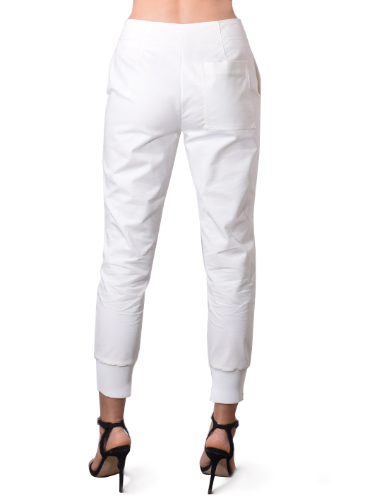 Ghost Waist Jogger Pants in White