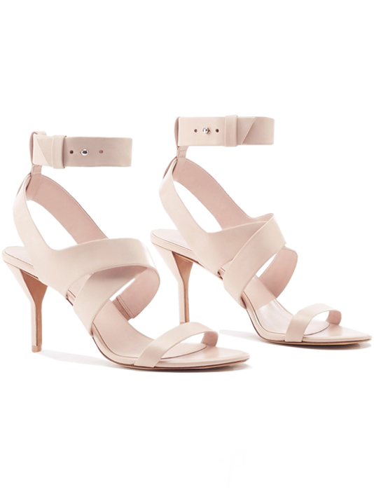 Ankle Strap Heels in Blush