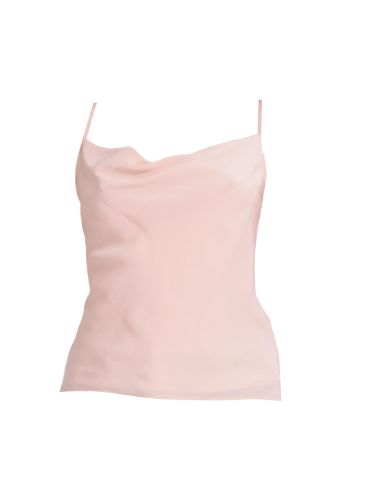 Cowl Neck Cami in Misty Rose