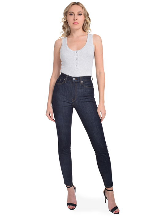 Ultra High Rise Skinny Abyss In Navy