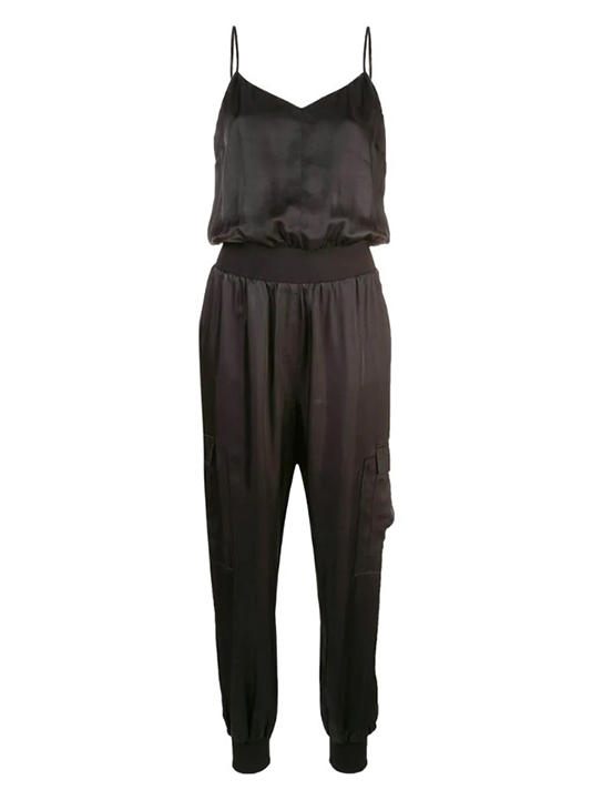 CINQ A SEPT Twill Amia Jumpsuit In Black