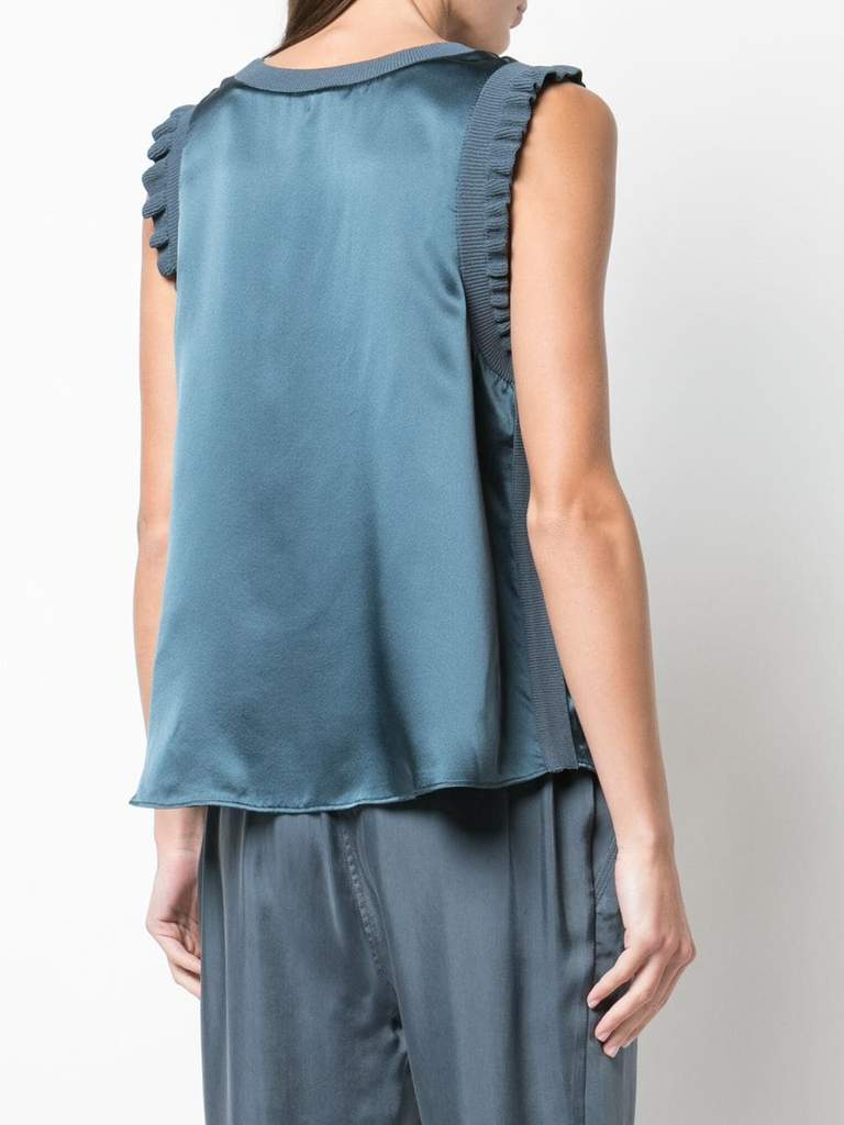 Cinq A Sept Lenore Top In Onyx Back View