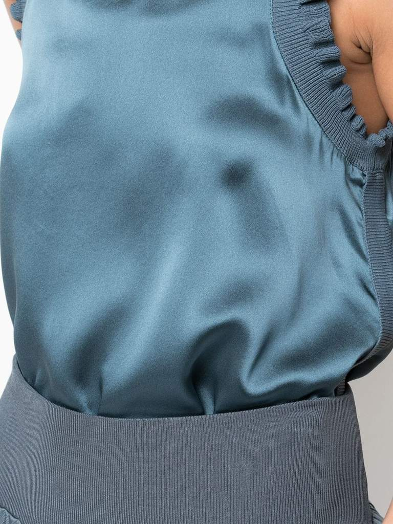 Cinq A Sept Lenore Top In Onyx Details