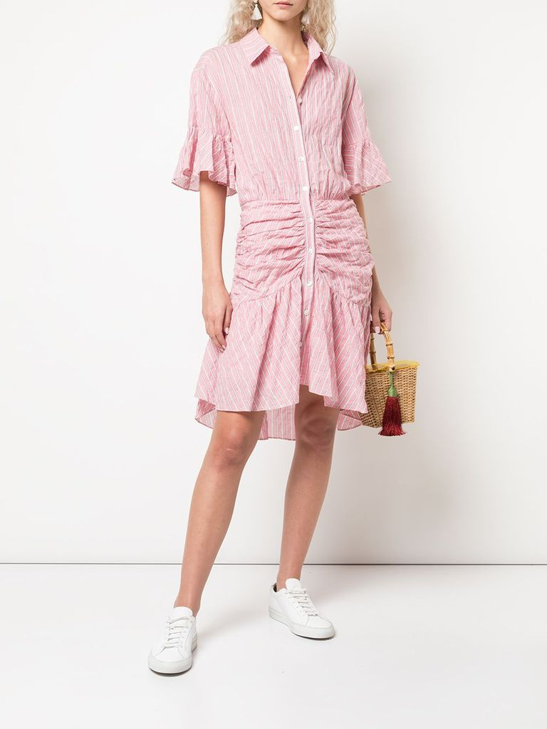Cinq A Sept Asher Dress in Carnation Front View X1https://cdn11.bigcommerce.com/s-3wu6n/products/33147/images/109241/14569234_22965378_1000_1024x1024__24954.1587930674.244.365.jpg?c=2X2
