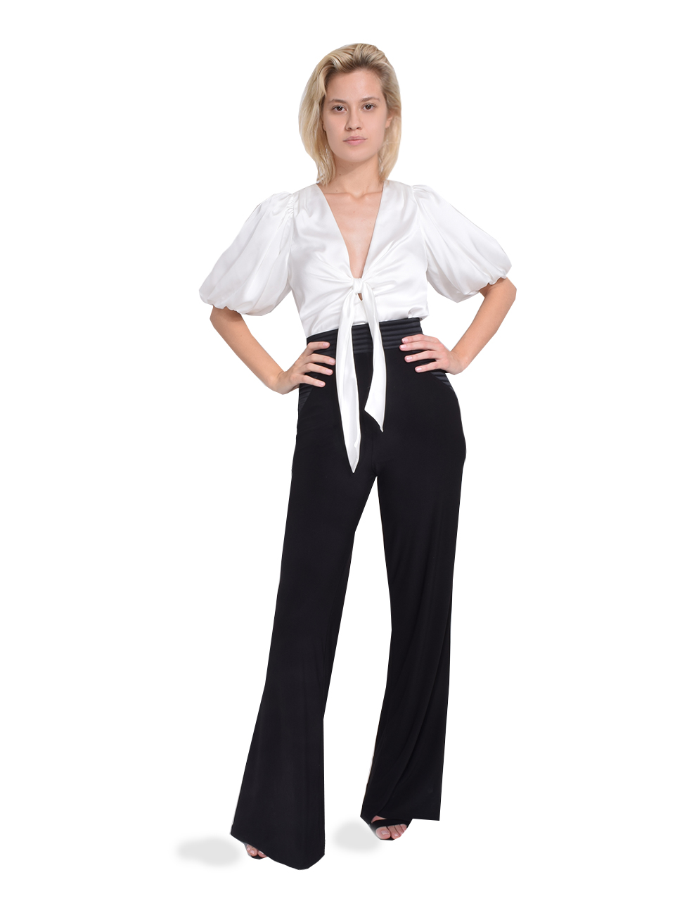 Zhivago Ready Wide Leg Pant in Black  Full Outfit