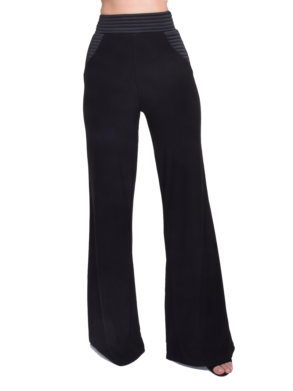 Zhivago Ready Wide Leg Pant in Black Front View  X1https://cdn11.bigcommerce.com/s-3wu6n/products/33189/images/109419/52__48224.1590178972.244.365.jpg?c=2X2