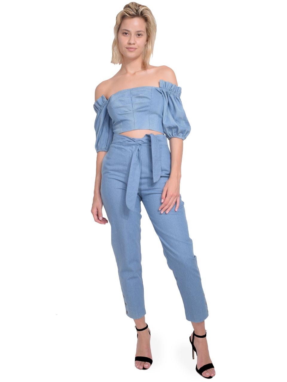 Karina Grimaldi Stella Denim Pants Full Outfit