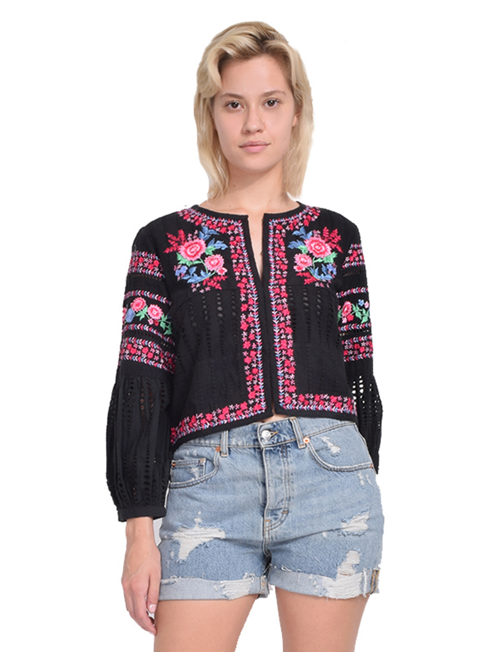 Misa Charlotta Jacket in Black Front View  X1https://cdn11.bigcommerce.com/s-3wu6n/products/33195/images/109586/63__35692.1590631516.244.365.jpg?c=2X2