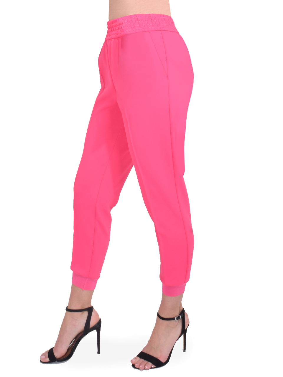 ALICE + OLIVIA Ramora Skinny Jogger in Wild Pink Side View