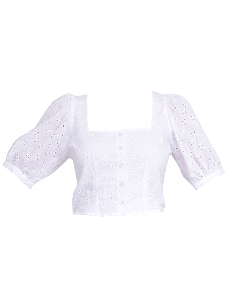 Rachel Pally Eyelet Kimmie Top in White Product Shot