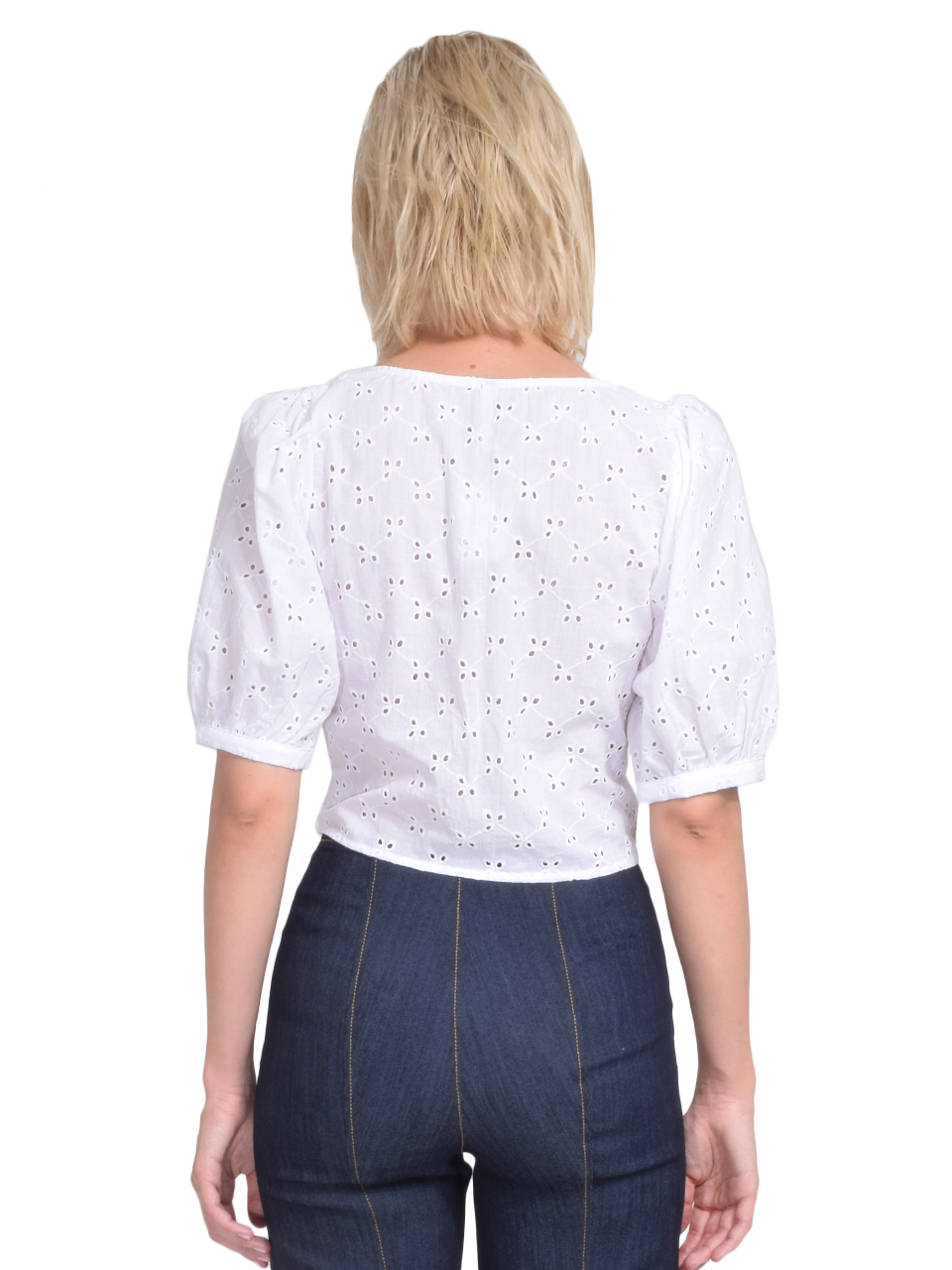 Rachel Pally Eyelet Kimmie Top in White Back View