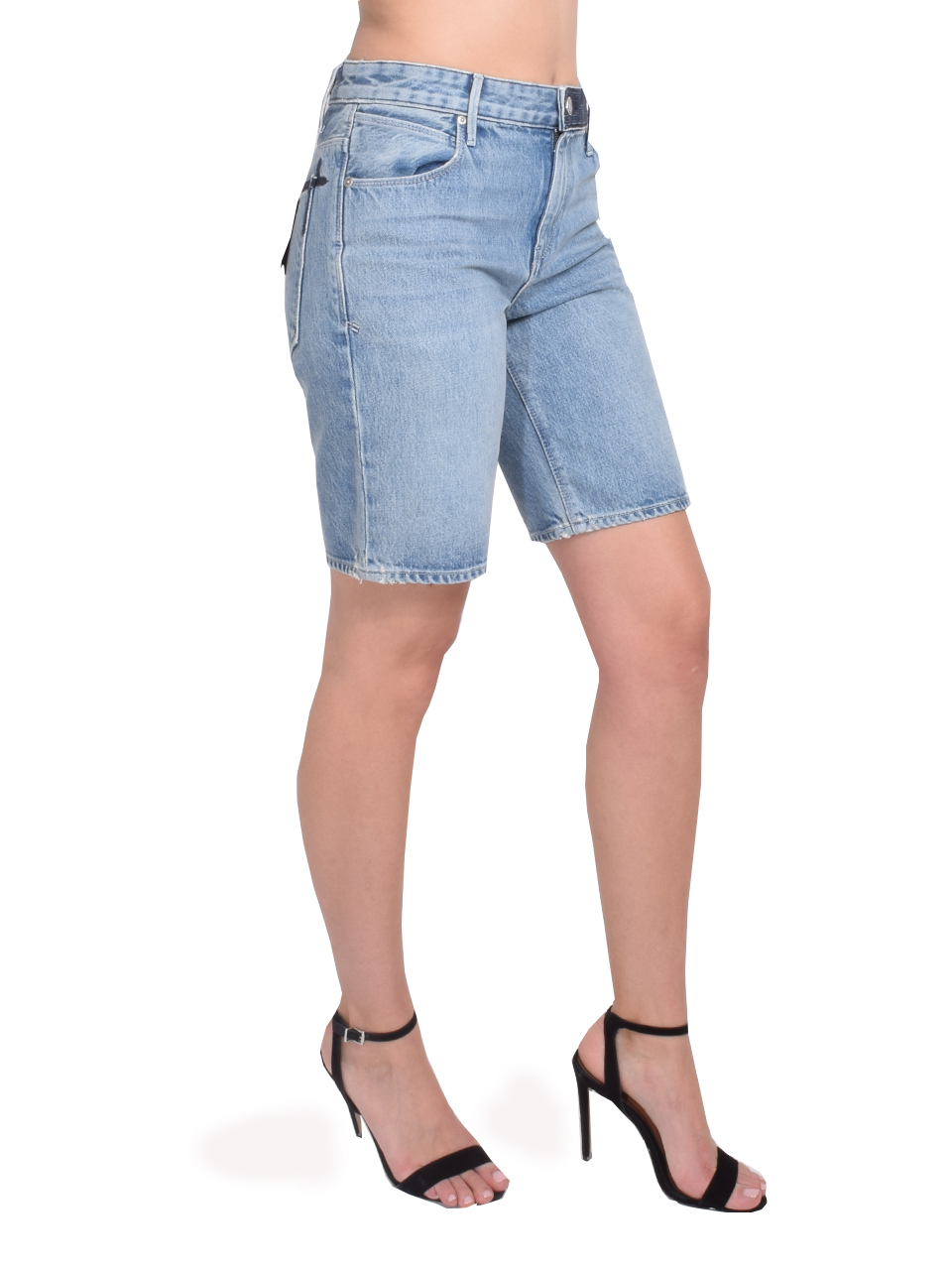 RtA Jami Baggy Short in Gallo Blue Side View