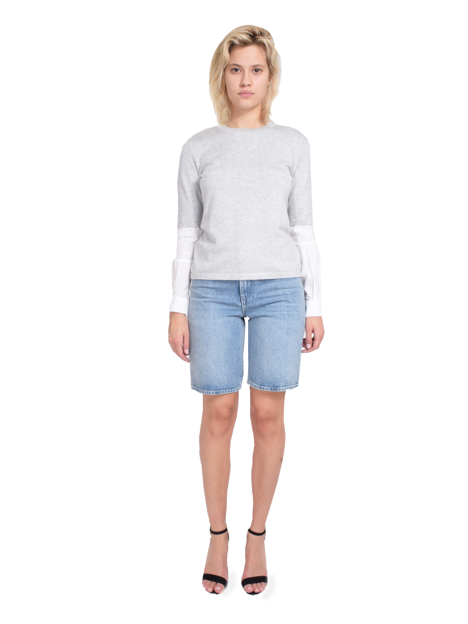 RtA Jami Baggy Short in Gallo Blue Full Outfit