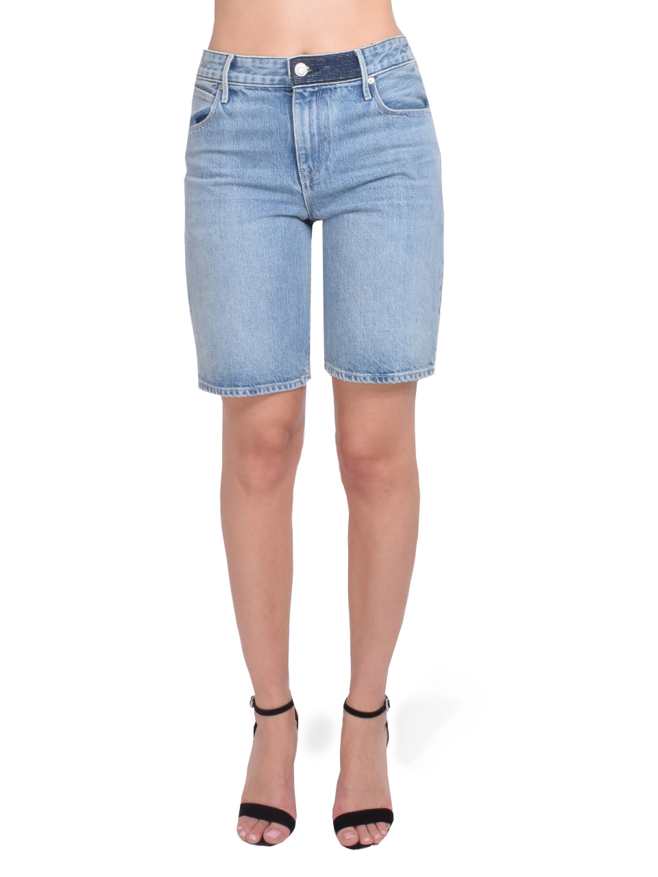 RtA Jami Baggy Short in Gallo Blue  Front View  X1https://cdn11.bigcommerce.com/s-3wu6n/products/33229/images/109696/72__76689.1591221491.244.365.jpg?c=2X2
