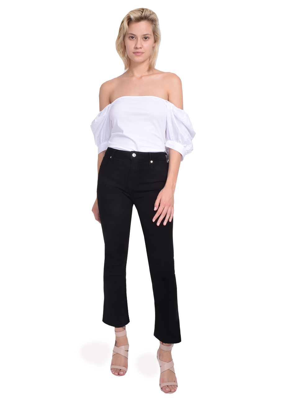 RtA Brandi Jeans in Max Black Full Outfit