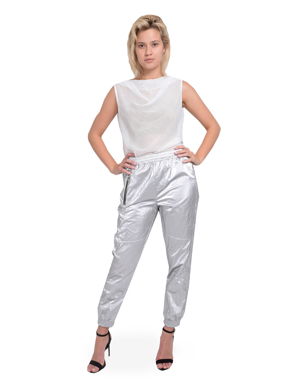 RtA Finn Sweatpants in Half Moon Full Outfit