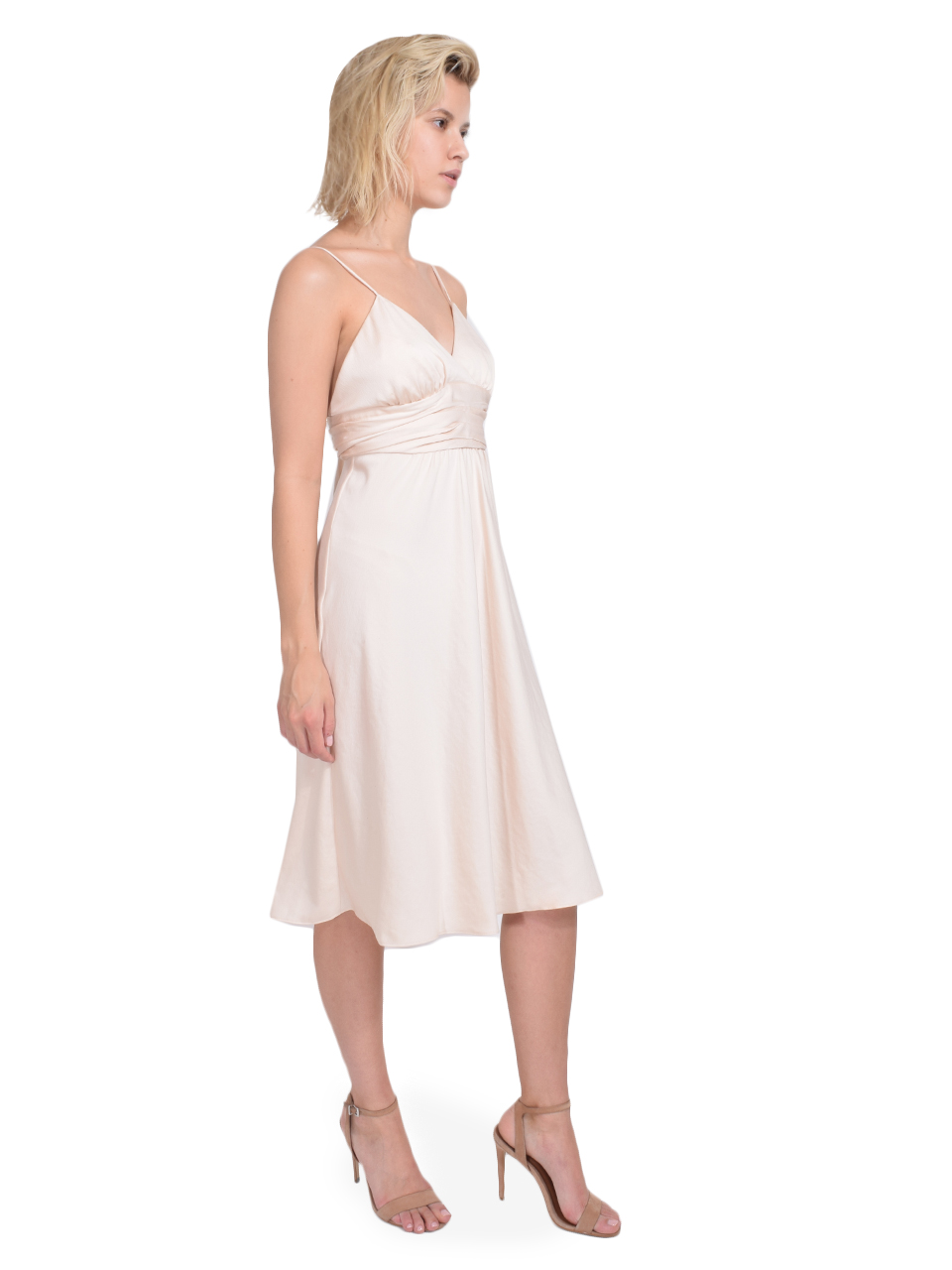 Ba&sh Dixie Dress in Champagne Side View