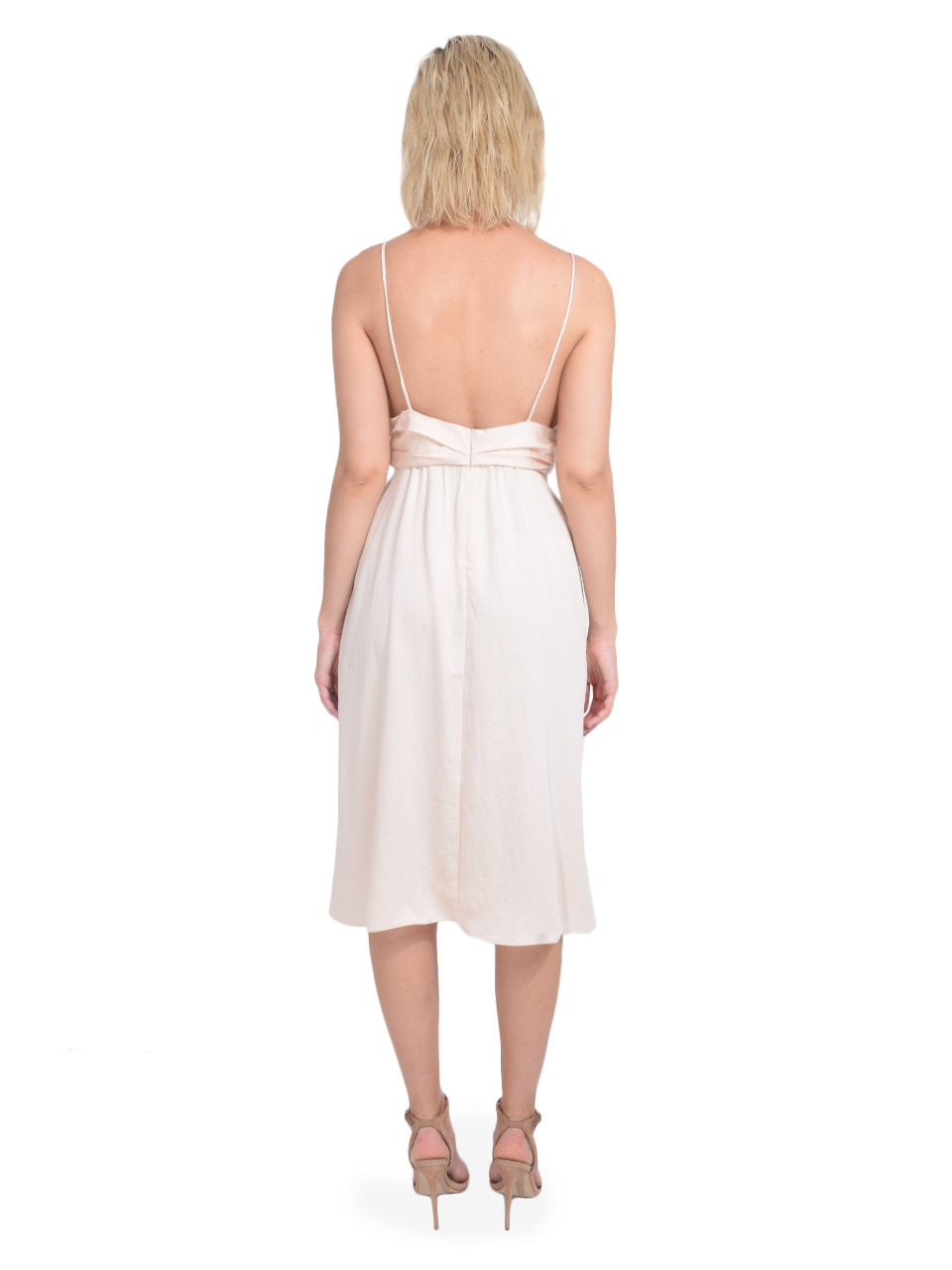 Ba&sh Dixie Dress in Champagne Back View