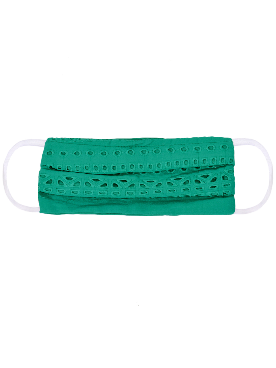 Karina Grimaldi Kelly Eyelet Mask in Green X1https://cdn11.bigcommerce.com/s-3wu6n/products/33238/images/109682/Kelly-Eyelet-Mask-in-Green-2__18064.1590790951.244.365.jpg?c=2x2