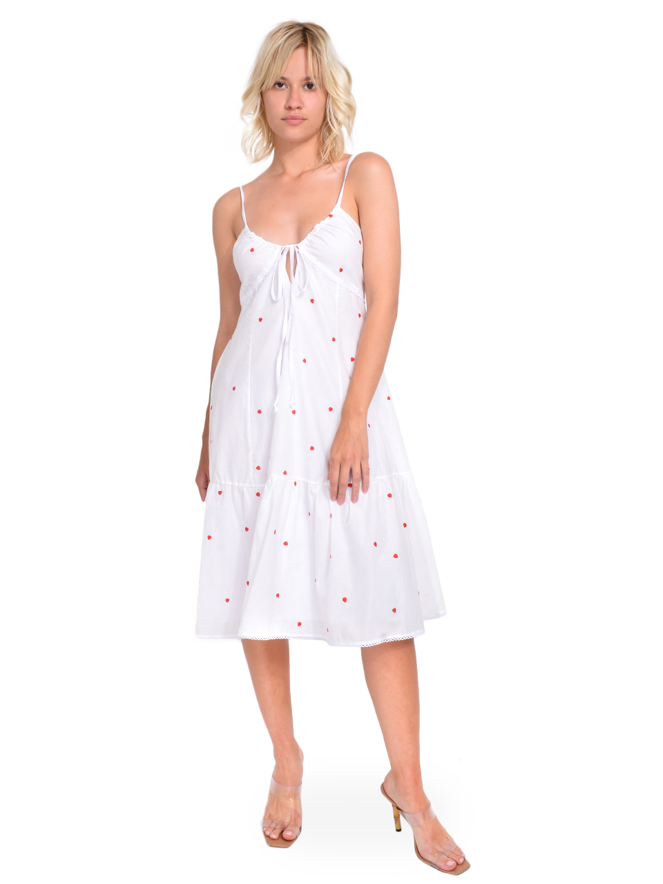 Ottod'Ame Embroidered Dress with Drawstring Front View  X1https://cdn11.bigcommerce.com/s-3wu6n/products/33257/images/109935/86__85122.1594259072.244.365.jpg?c=2X2