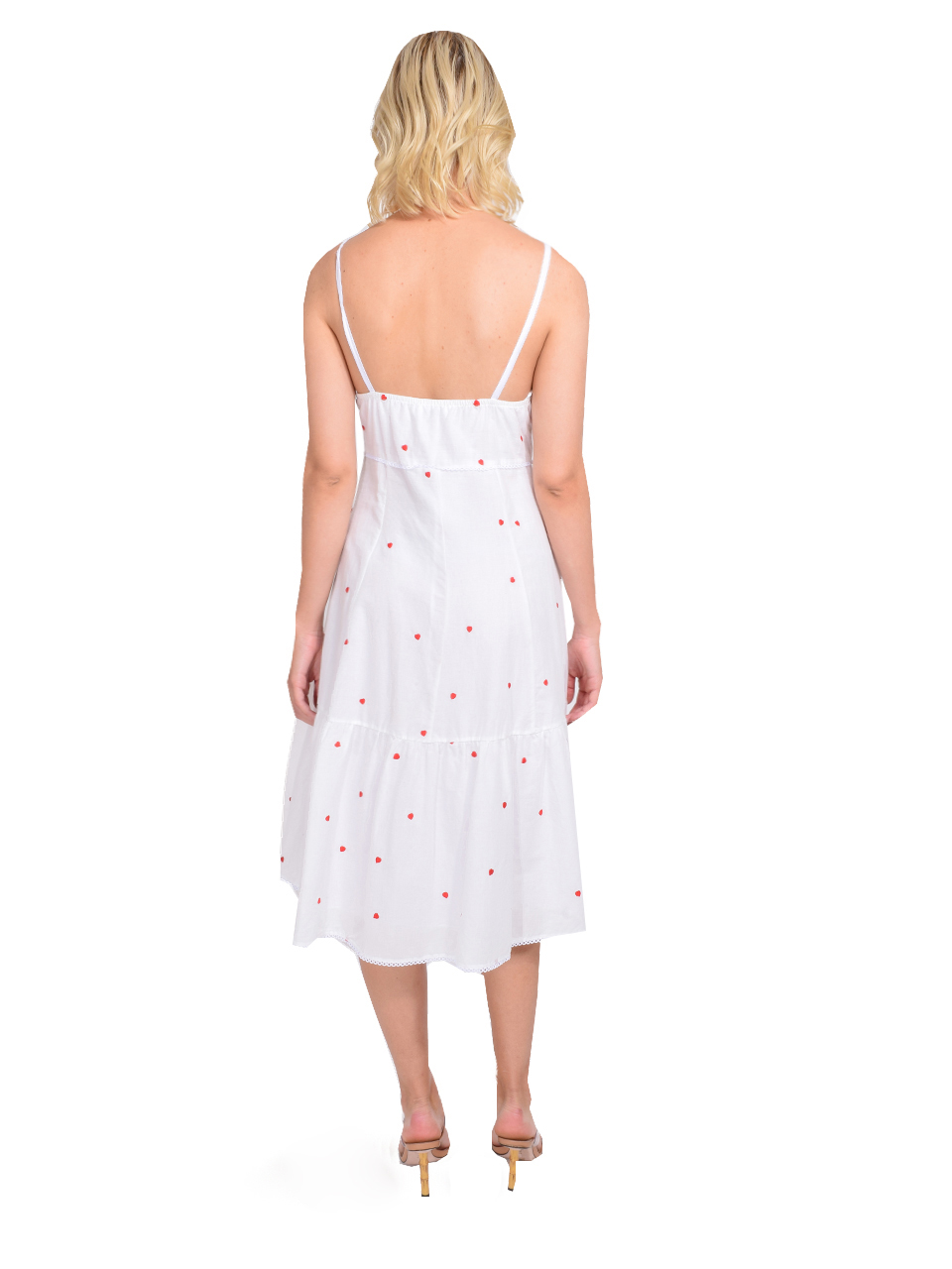 Ottod'Ame Embroidered Dress with Drawstring Back View