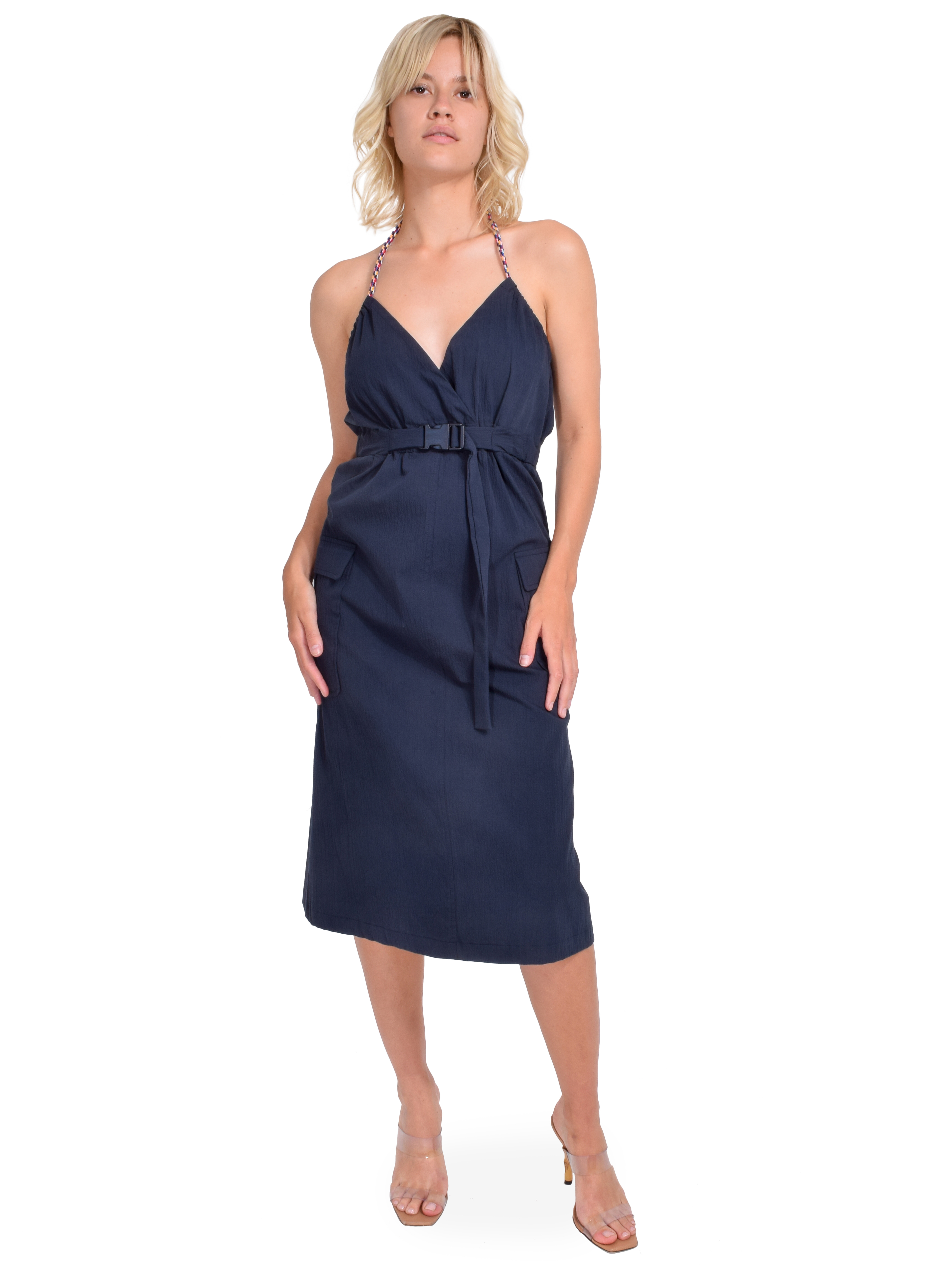 Ottod'Ame Cotton Midi Dress with Belt Front View  X1https://cdn11.bigcommerce.com/s-3wu6n/products/33258/images/109753/55_copy__29664.1593649861.244.365.jpg?c=2X2