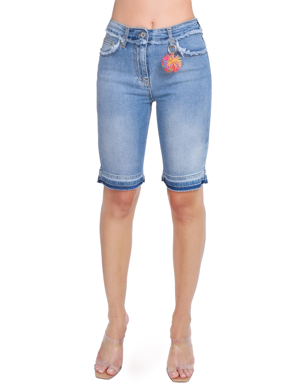 Ottod'Ame Denim Bike Shorts with Trims Front View  X1https://cdn11.bigcommerce.com/s-3wu6n/products/33263/images/110011/1__91233.1594079085__06980.1594330307.244.365.jpg?c=2x2
