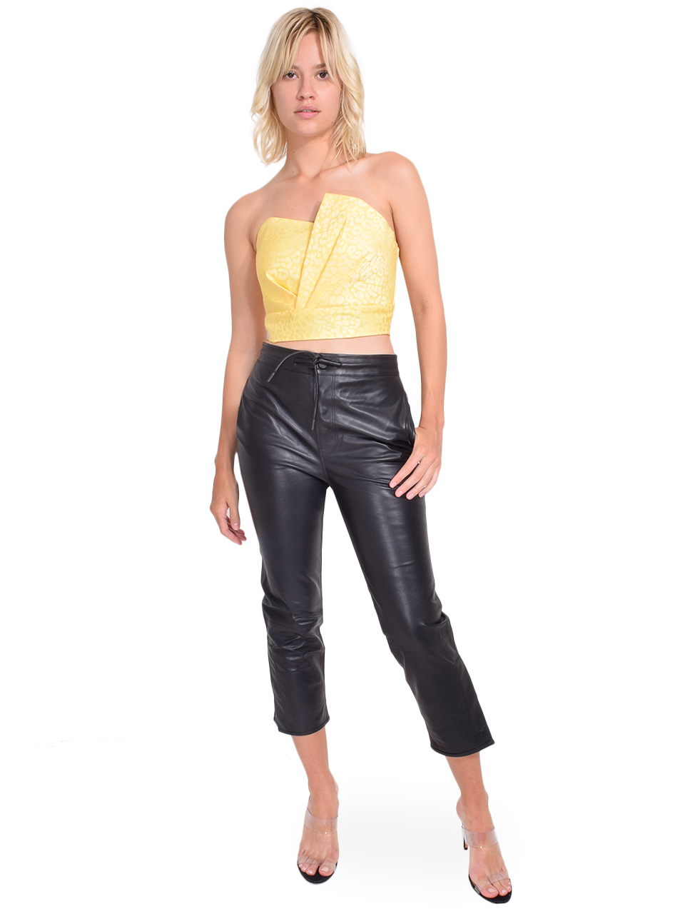 RtA Matisse Pants in Black Leather Full Outfit