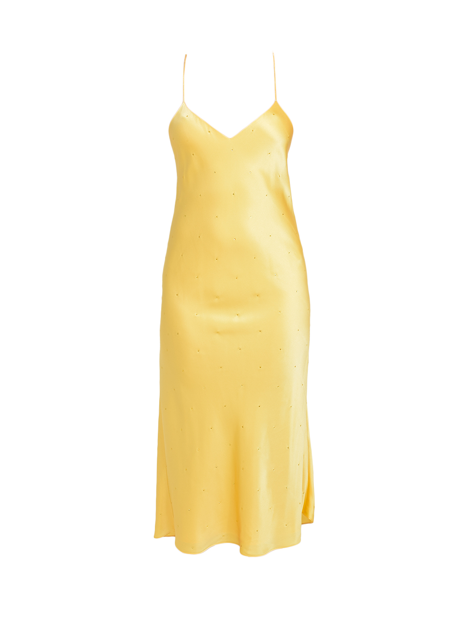 MICHELLE MASON Silk Charmeuse Midi Dress in Butter Product Shot