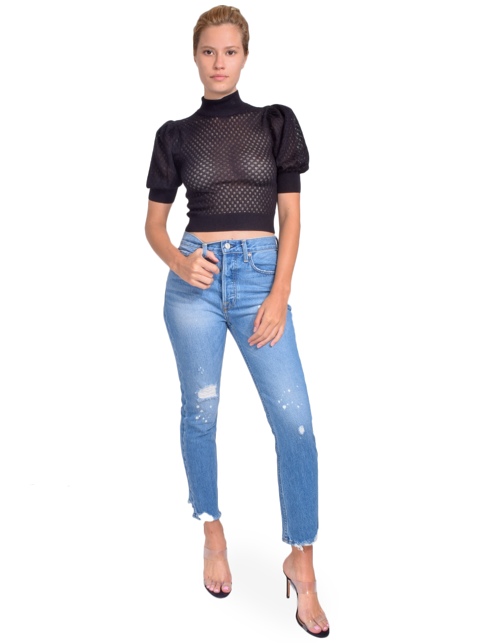 NO END Newport Slim Straight Cropped Jean in Beastie Full Outfit