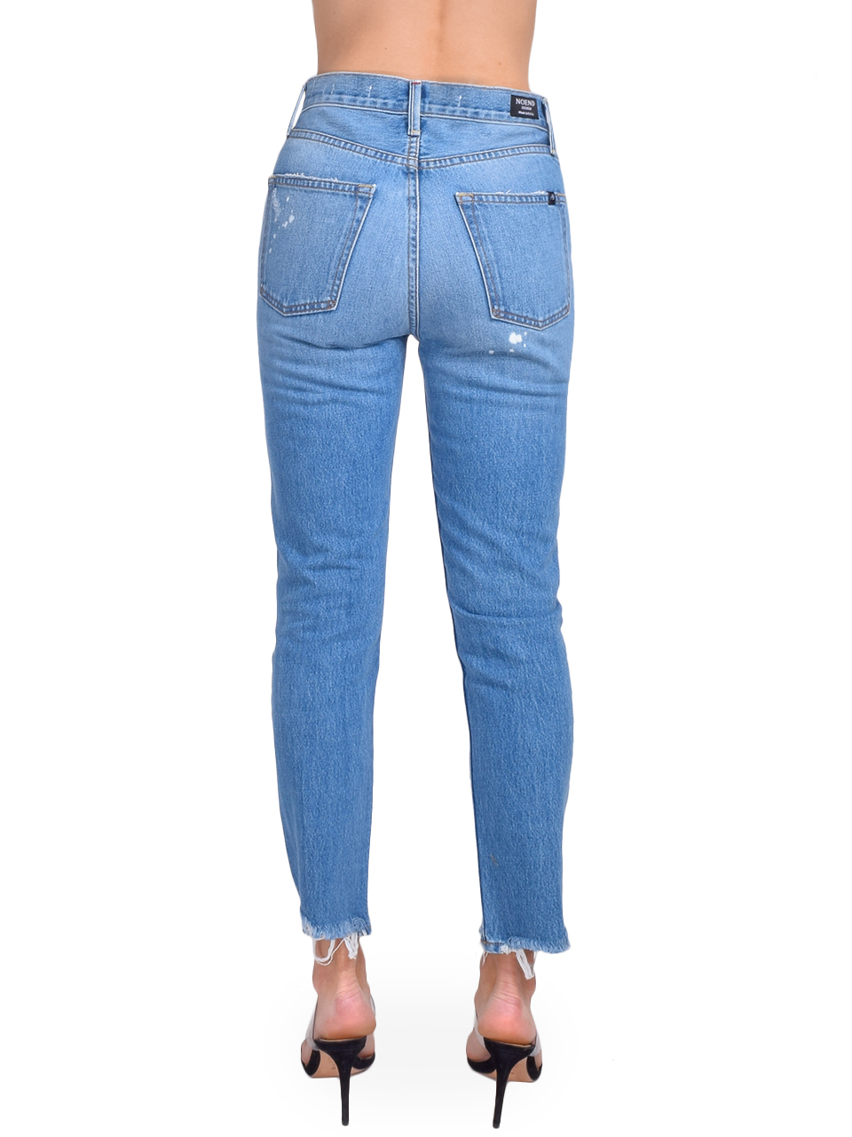 NO END Newport Slim Straight Cropped Jean in Beastie Back View