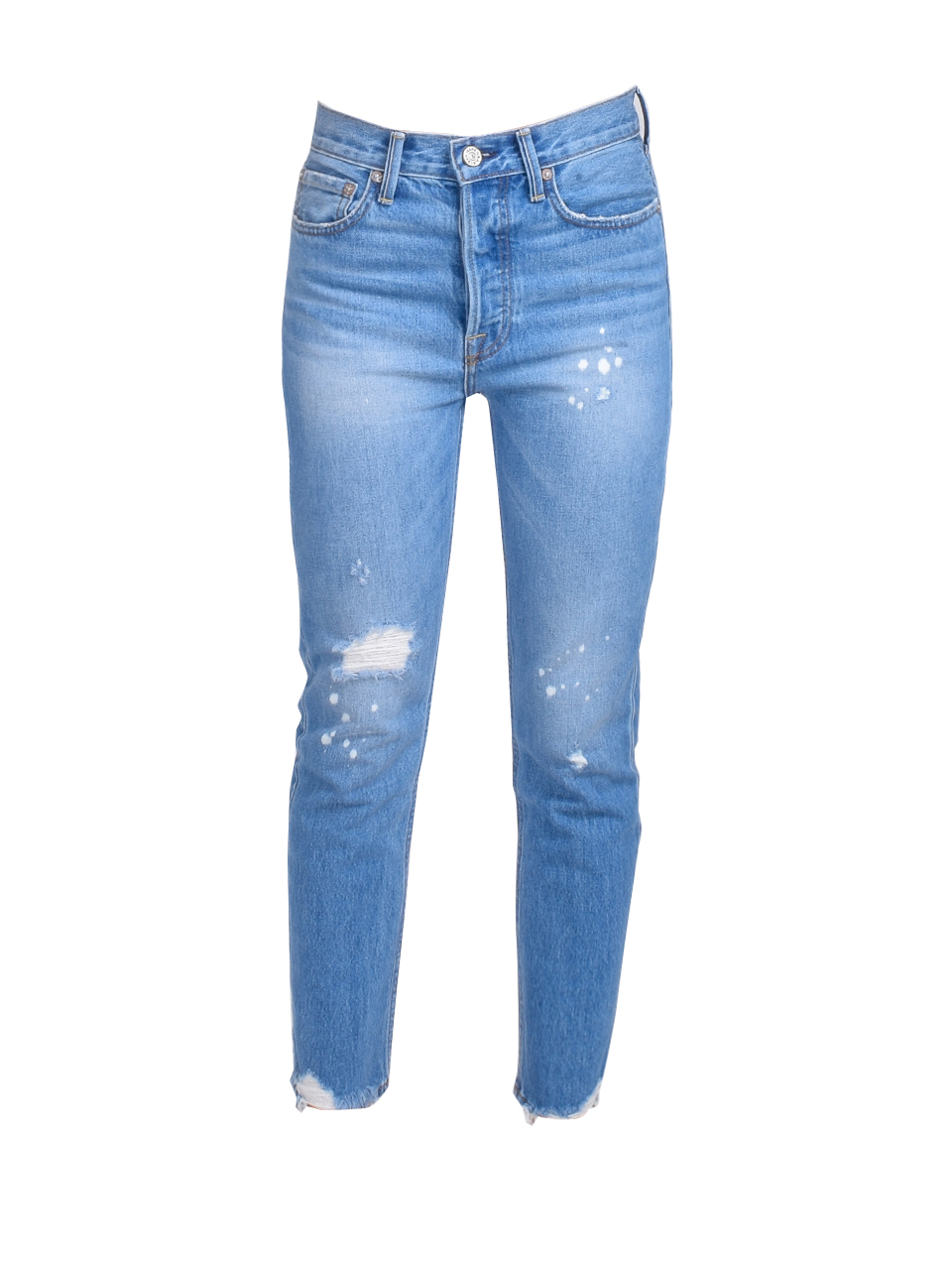 NO END Newport Slim Straight Cropped Jean in Beastie Product Shot