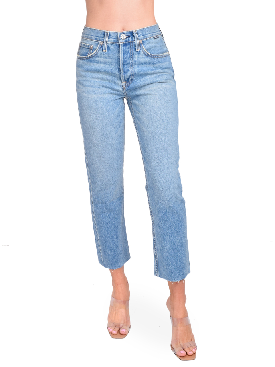 NO END Astoria High Rise Straight Crop Jean Front View  X1https://cdn11.bigcommerce.com/s-3wu6n/products/33347/images/110171/106__85559.1597879892.244.365.jpg?c=2X2