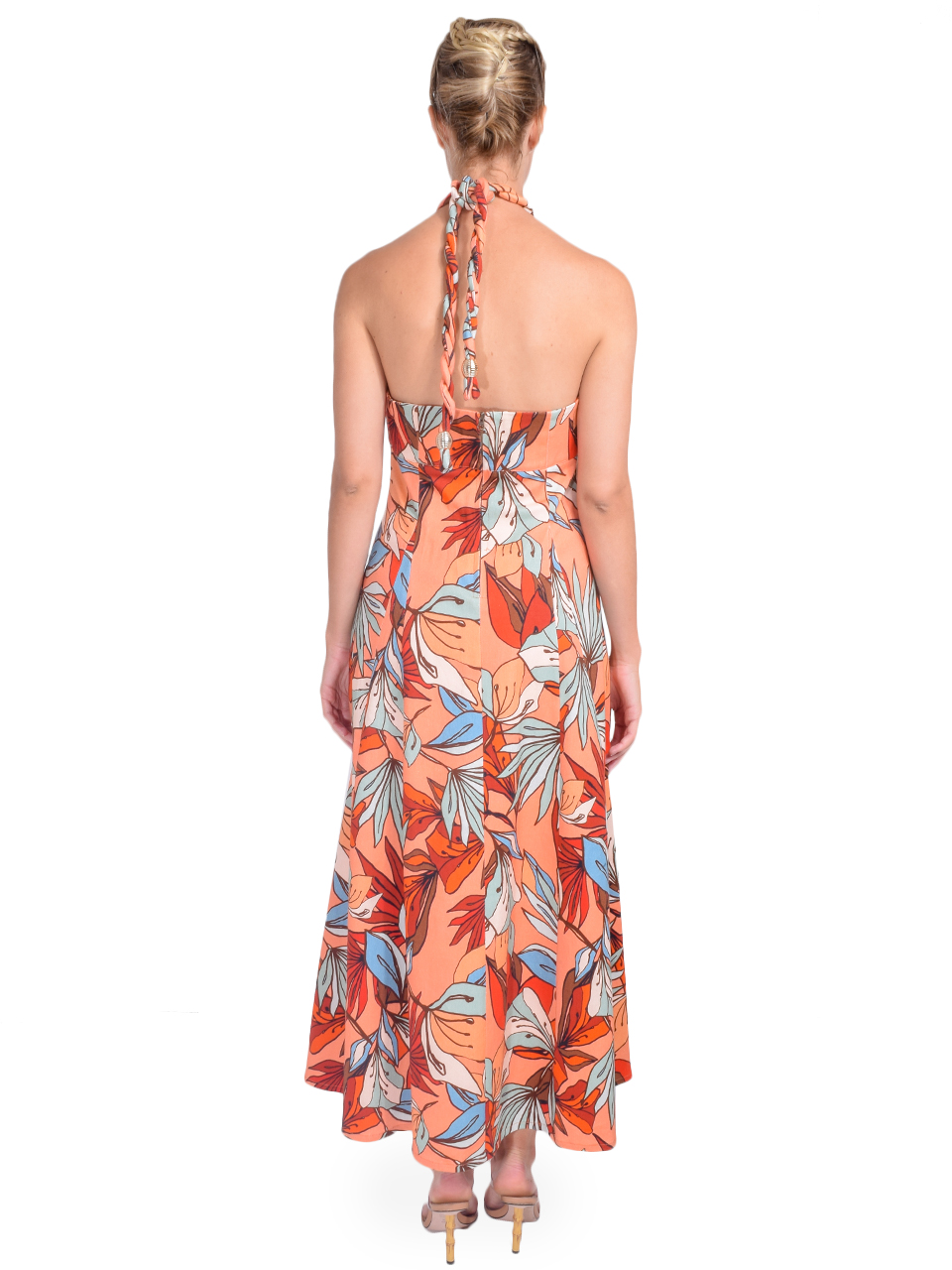 NICHOLAS Tina Dress in Tarama Deco Floral Back View
