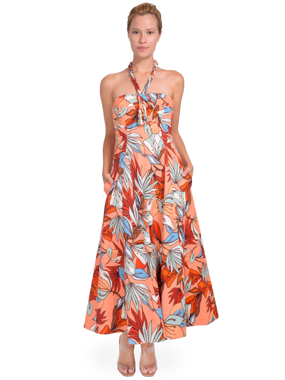 NICHOLAS Tina Dress in Tarama Deco Floral Front View  X1https://cdn11.bigcommerce.com/s-3wu6n/products/33362/images/110259/178__09797.1598306023.244.365.jpg?c=2X2